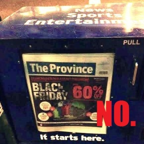 You guys, there is no Black Friday in Canada.